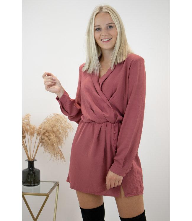 Infinity dress - rose fonce