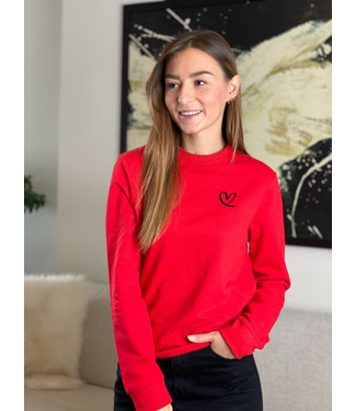 Limited heart sweater - red