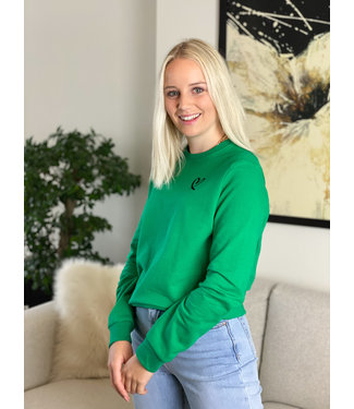 Limited heart sweater - green