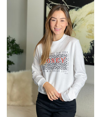 Limited sweater honey - white