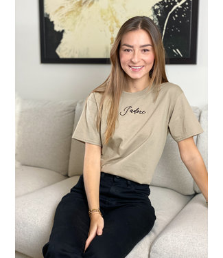 Limited j'adore t-shirt - taupe