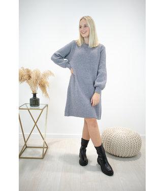 Liv ribble dress - grey