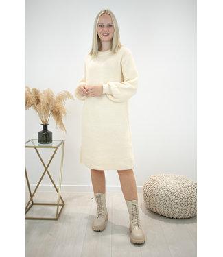 Liv ribble dress - ecru