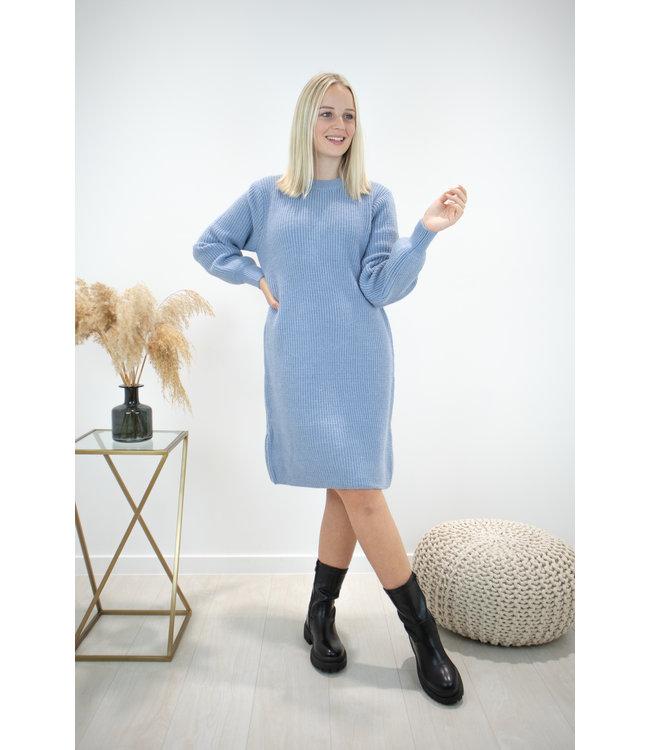 Liv ribble dress - blue