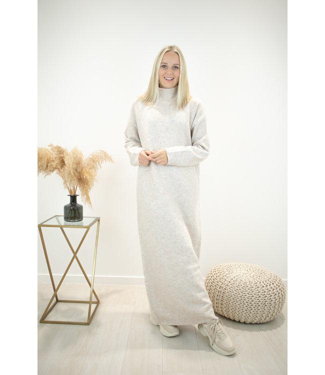 Yasmine MAXI dress - marble beige