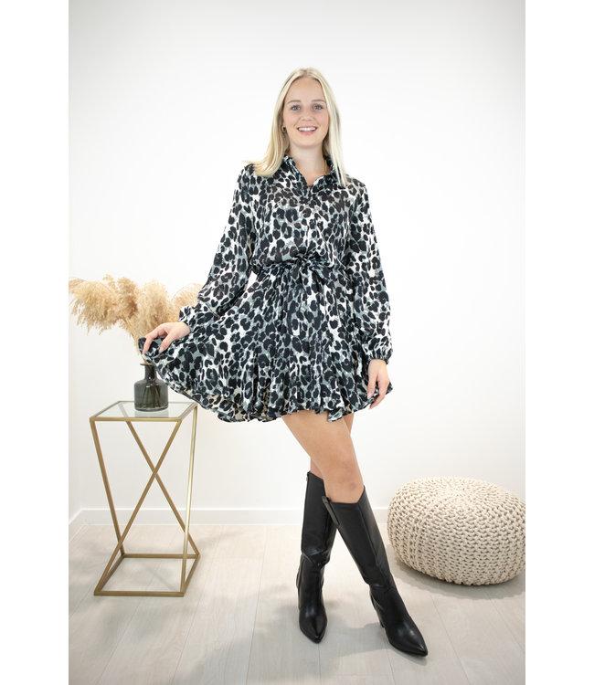 Dreamy leopard dress - grey