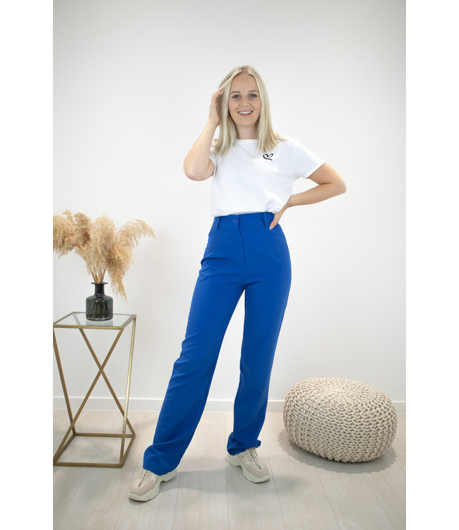 Isa suit WIDE trouser - kobalt