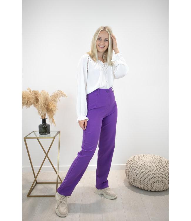 Isa suit WIDE trouser - purple