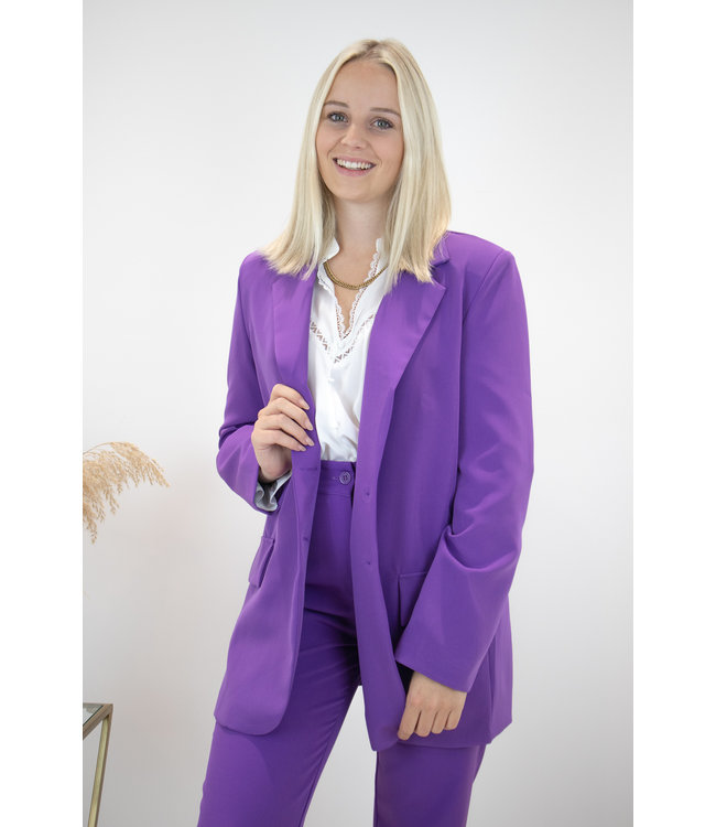 Isa suit blazer - purple