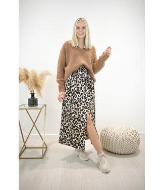 Leopard maxi dress - camel