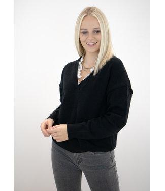 Chloe lace sweater - black