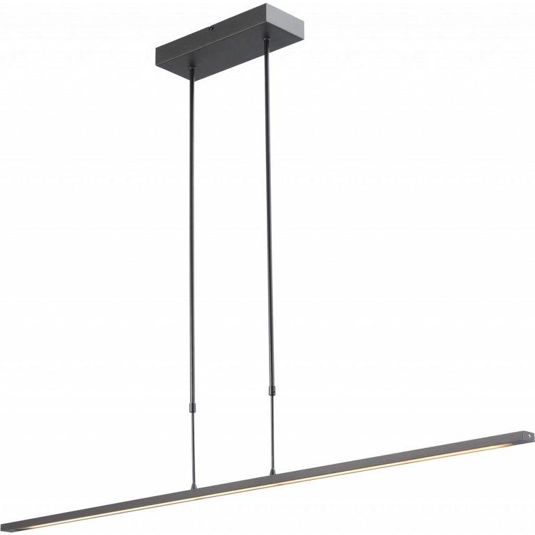 Masterlight Hanglamp Real 2 zwart nikkel 130 cm