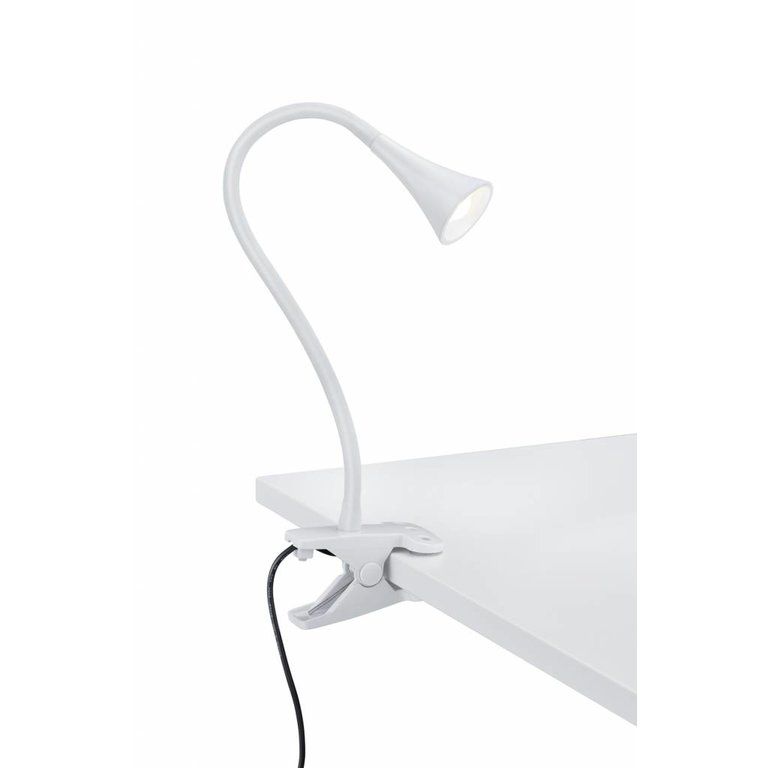 Trio Klemlamp Viper Wit LED