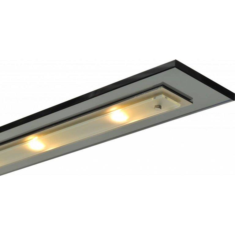 Masterlight Hanglamp Vigo nikkel (zwart glas) 130 cm