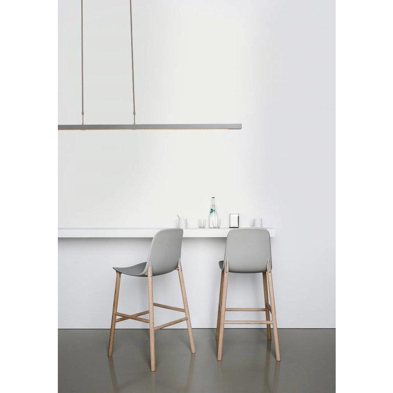 Masterlight Hanglamp Real 3 nikkel 130 cm