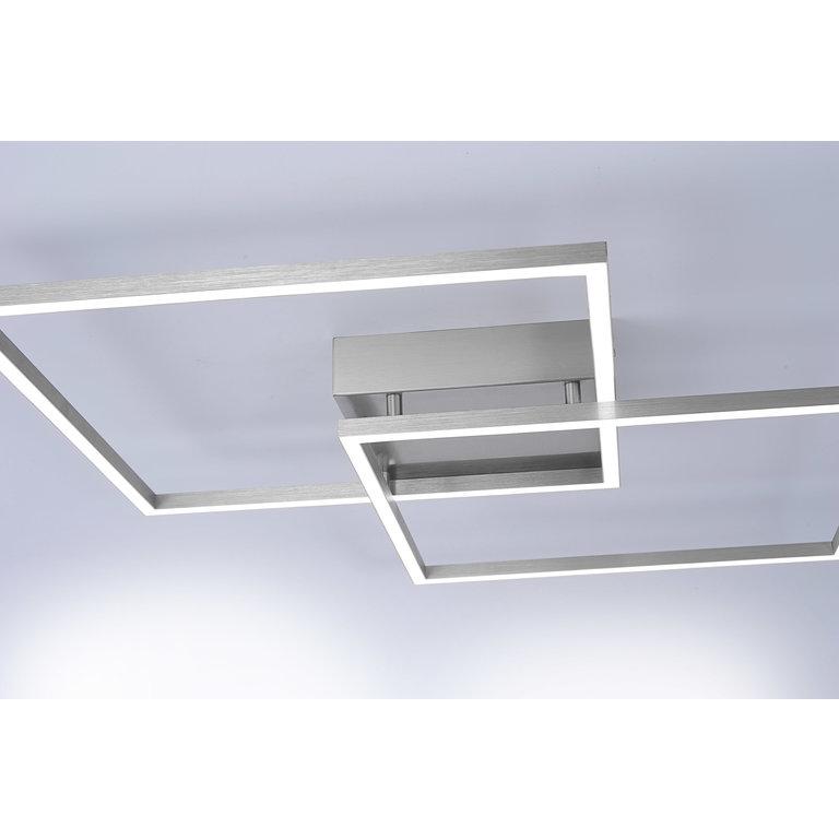 Paul Neuhaus Plafondlamp Q-Inigo 2 x vierkant big dimbaar en kleurinstelbaar