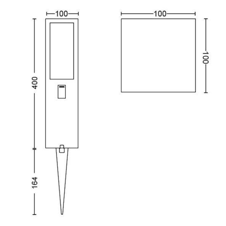Philips Buitenlamp Philips Hue Impress 24V WACA 8W uitbreiding