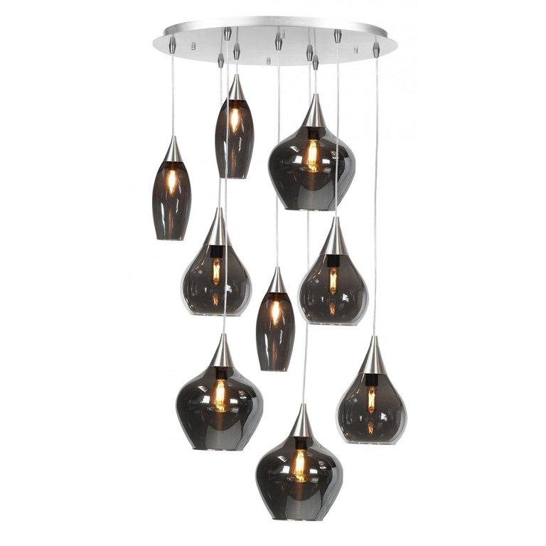 Highlight Hanglamp Cambio 9-lichts Nikkel