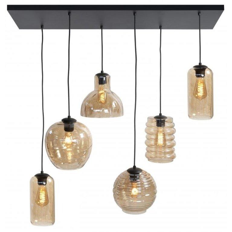 Highlight Hanglamp Fantasy Amber 6-lichts