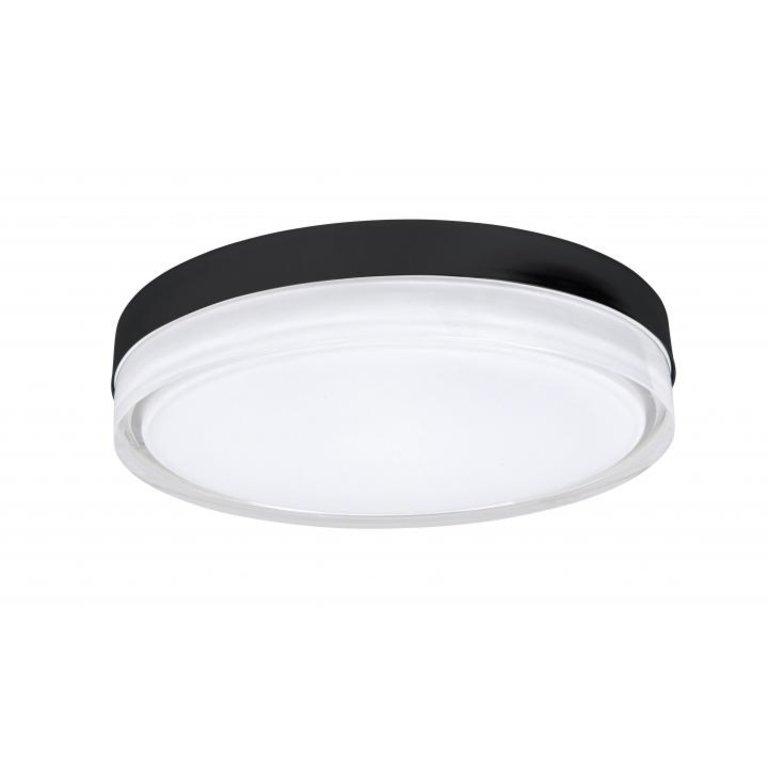Highlight Plafondlamp Disc Zwart Groot IP44
