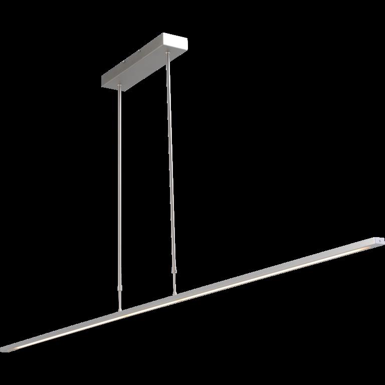 Masterlight Hanglamp Real 2 nikkel 160 cm