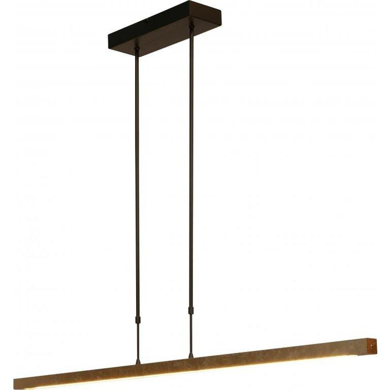 Masterlight Hanglamp Real 3 zwart nikkel met goud 130 cm met 2 dimmers