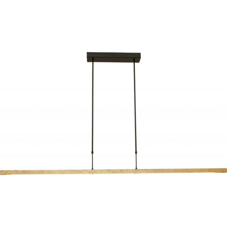 Masterlight Hanglamp Real 3 zwart nikkel met goud 160 cm met 2 dimmers