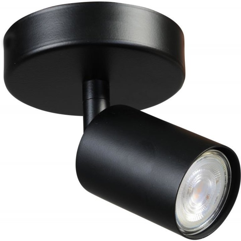 Masterlight Plafondlamp Bounce 1lichts zwart