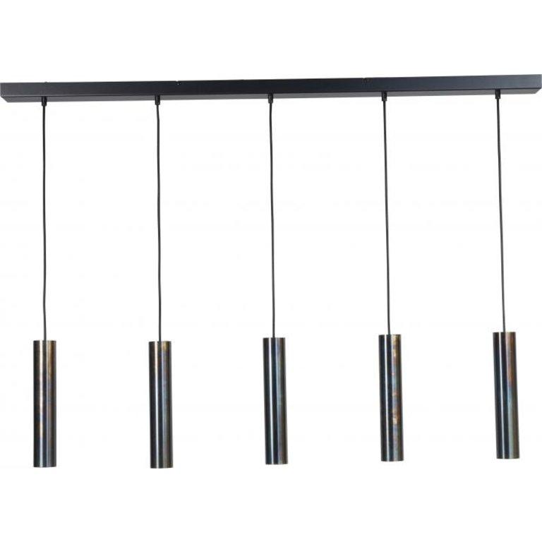 Masterlight Hanglamp Run dappled oil  5lichts