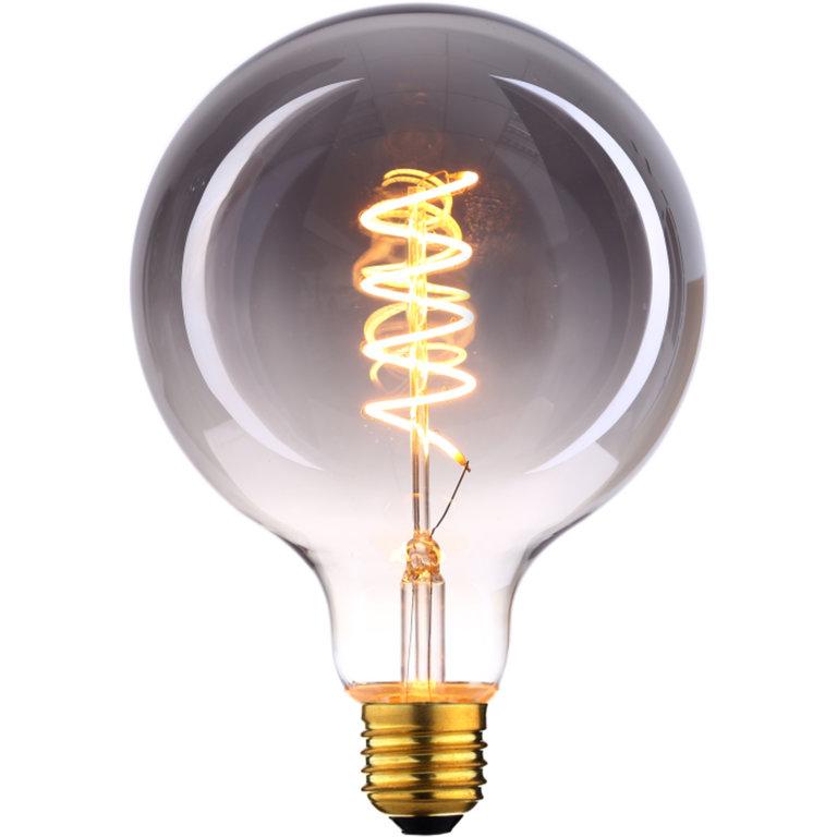 Highlight E27 LED filamentlamp - globe 80 - 4W dimbaar - smoke