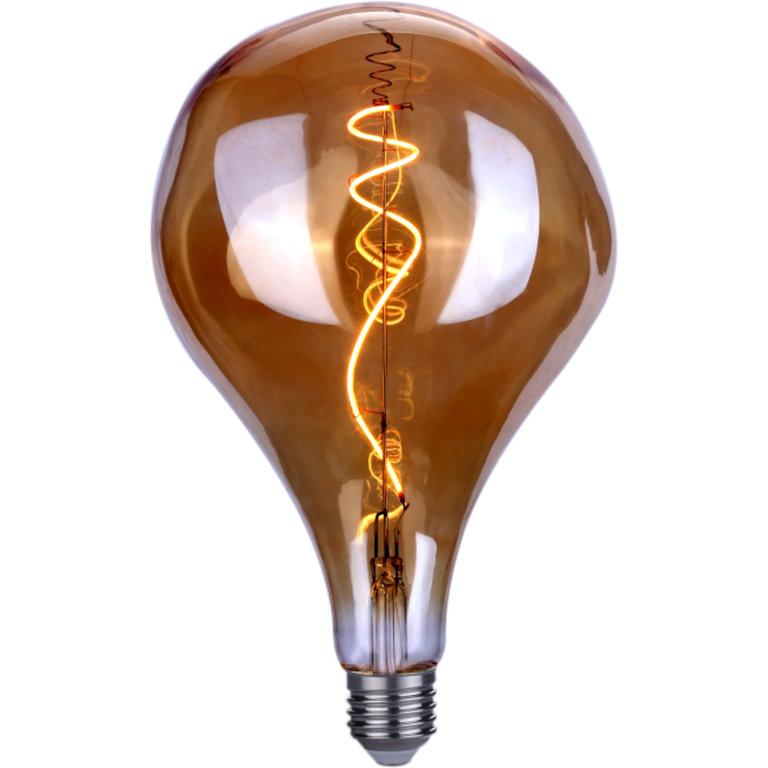 Highlight E27 LED filamentlamp - XXL gedeukt - 6W dimbaar - amber