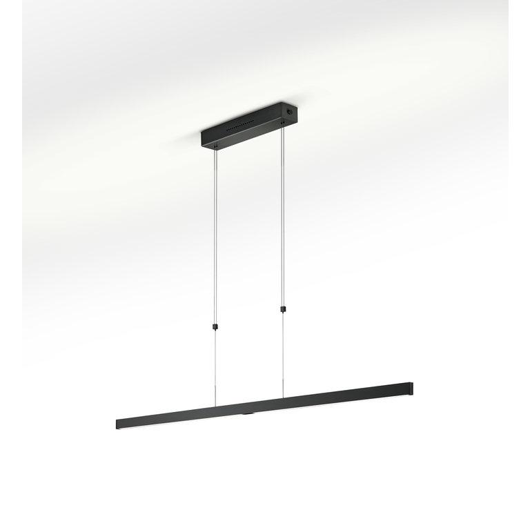 Knapstein Hanglamp Linn mat zwart 130cm LED (13,5 en 26W) met sensordimmer