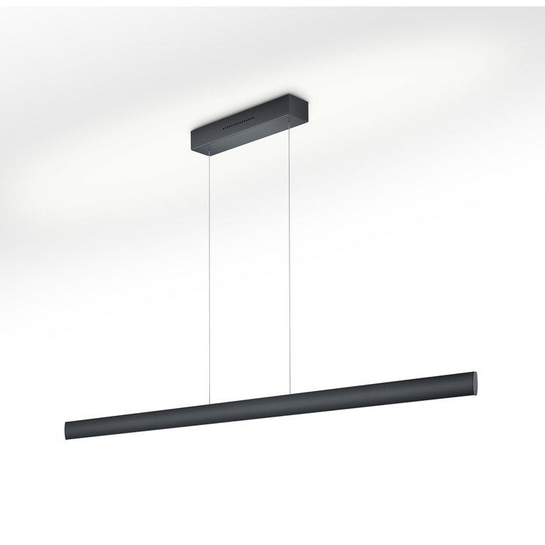 Knapstein Hanglamp Runa mat zwart LED (72W) met sensordimmer