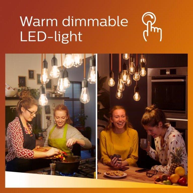Philips LED Lamp E27 Transparant 100W Dimbaar Warm Wit Licht