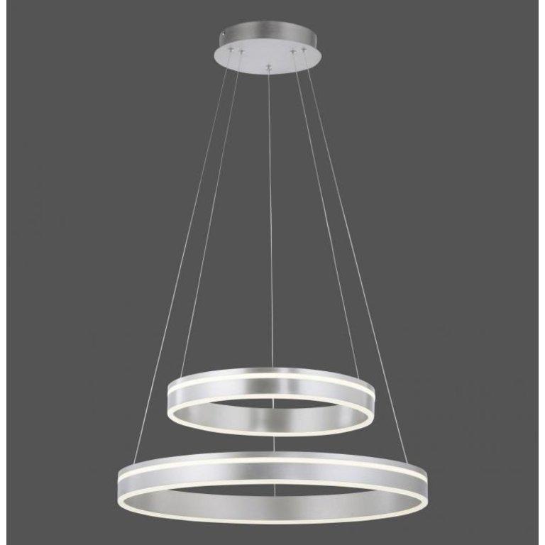 Paul Neuhaus Hanglamp Q-VITO staal met dubbele ring