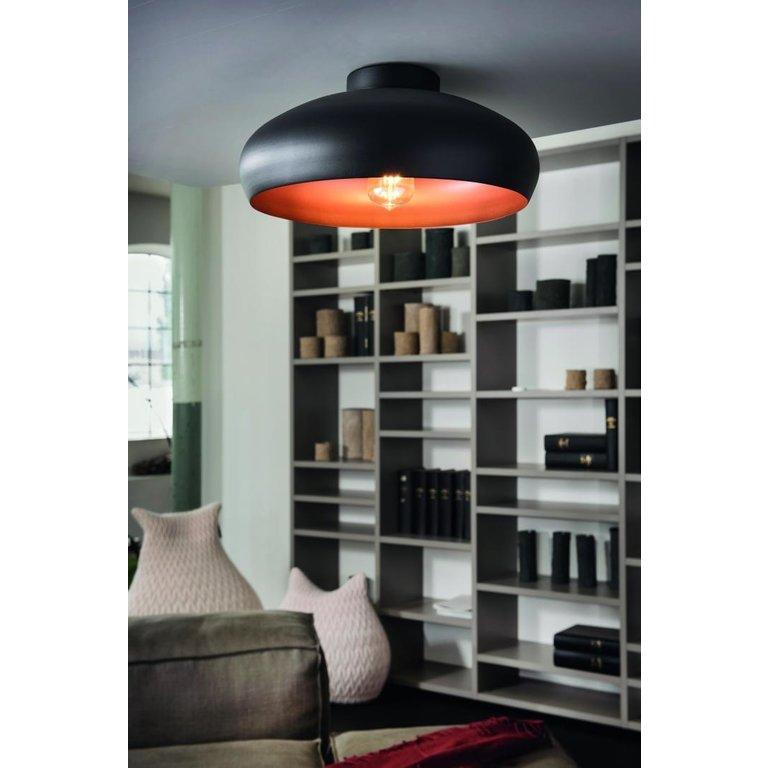 Eglo Plafondlamp Mogano Zwart/Koper