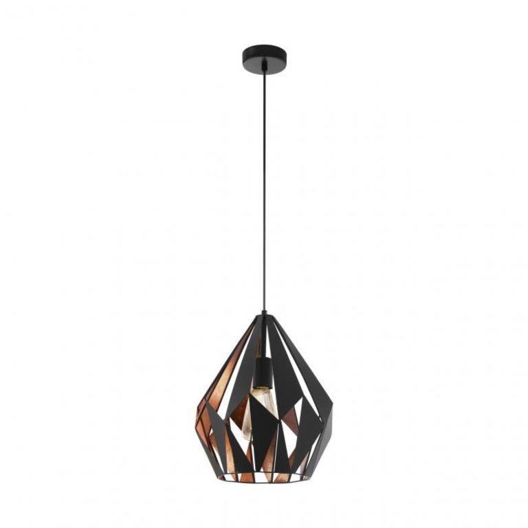 Eglo Hanglamp Carlton 1Lichts Zwart/Koper