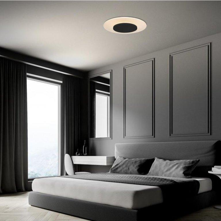 Steinhauer Plafondlamp Lido zwart 42cm