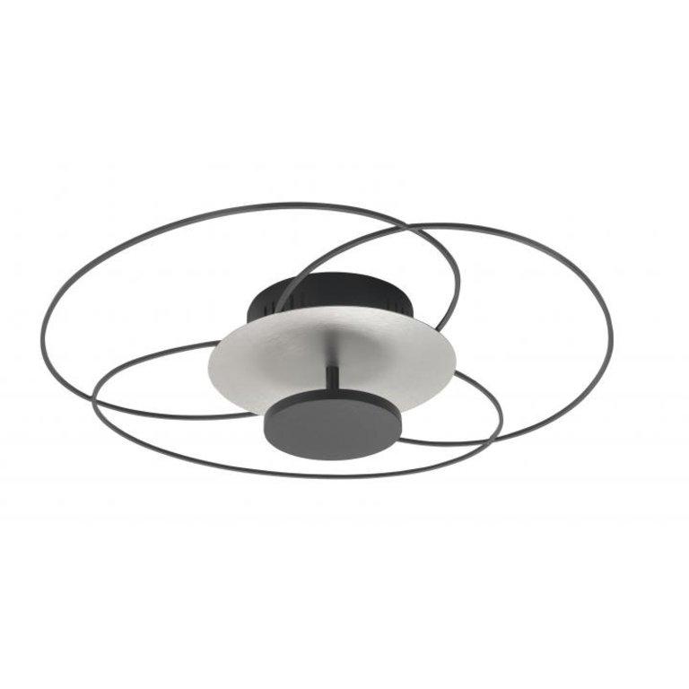Highlight Plafondlamp Fiore mat zwart met nikkel