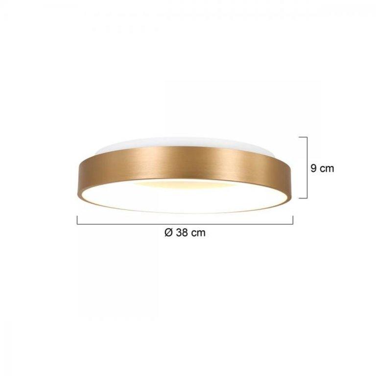 Steinhauer Plafondlamp Ringlede rond 38cm goud