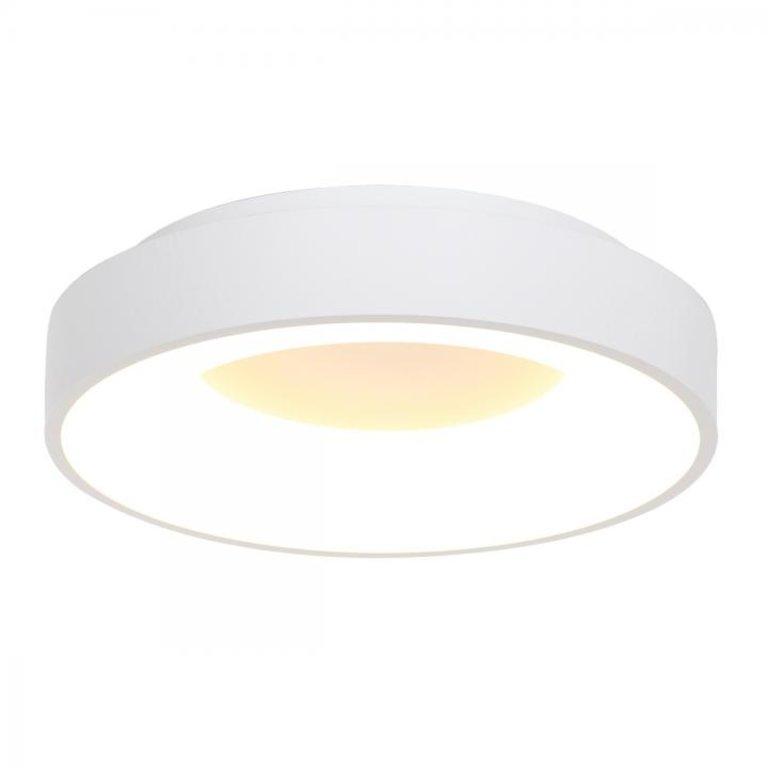 Steinhauer Plafondlamp Ringlede 48cm wit