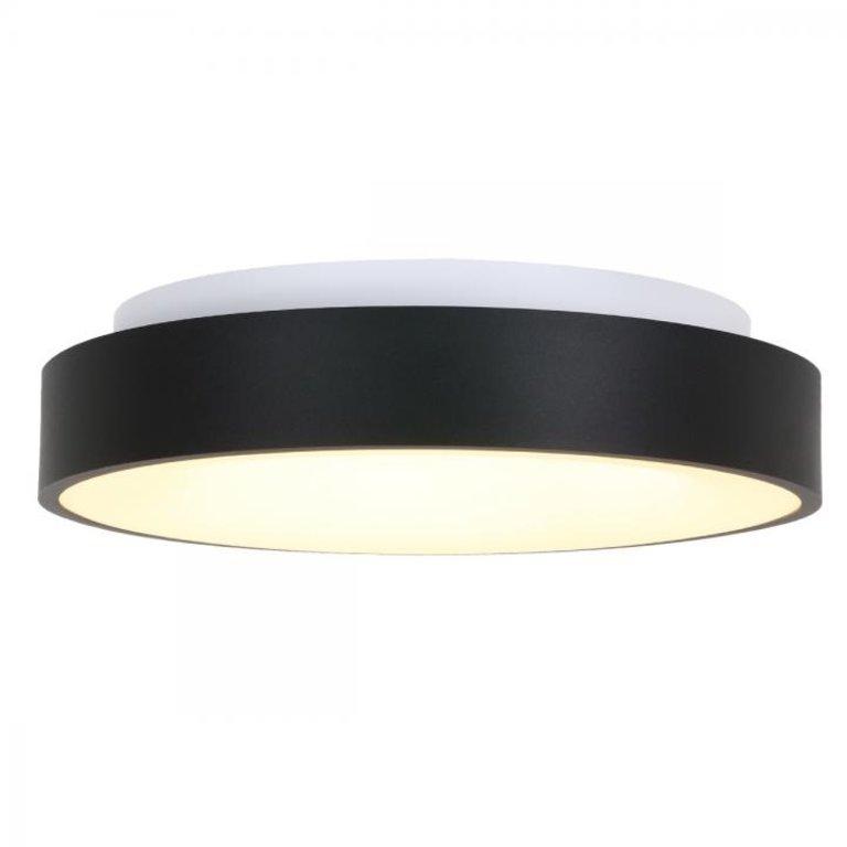 Steinhauer Plafondlamp Ringlede 48cm zwart