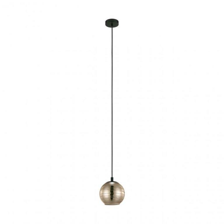 Eglo Hanglamp Lemorieta Zwart met goudkleurig glas