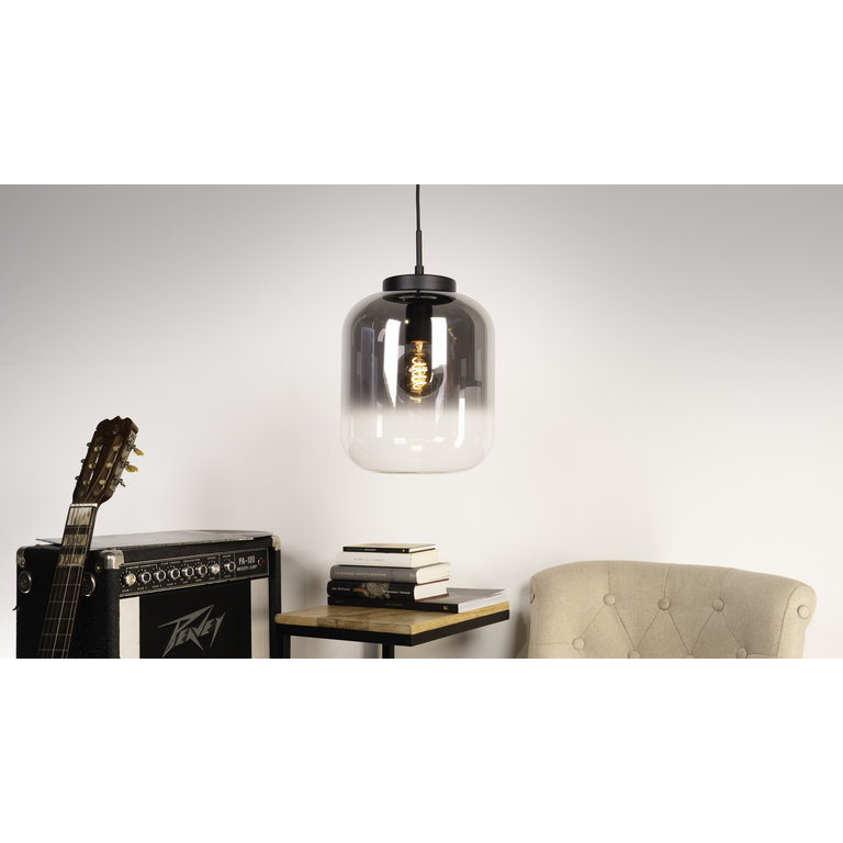 Eglo Hanglamp Bulciago  Groot Zwart/Titanium glas