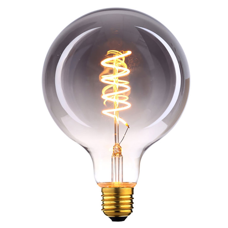 Highlight E27 LED filamentlamp - globe 125 - 9W dimbaar - smoke