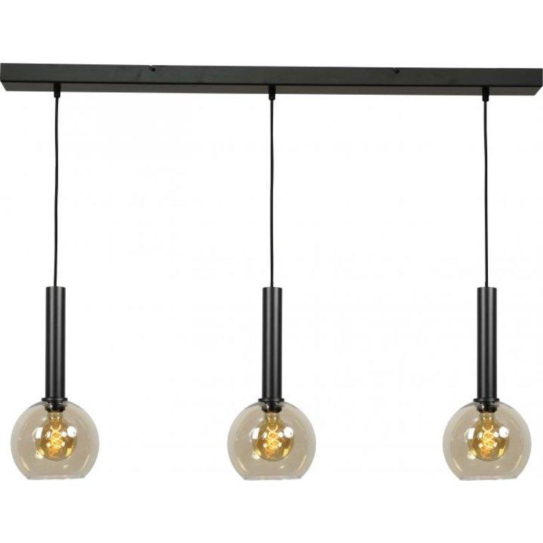 Masterlight Hanglamp Bella 3lichts mat zwart