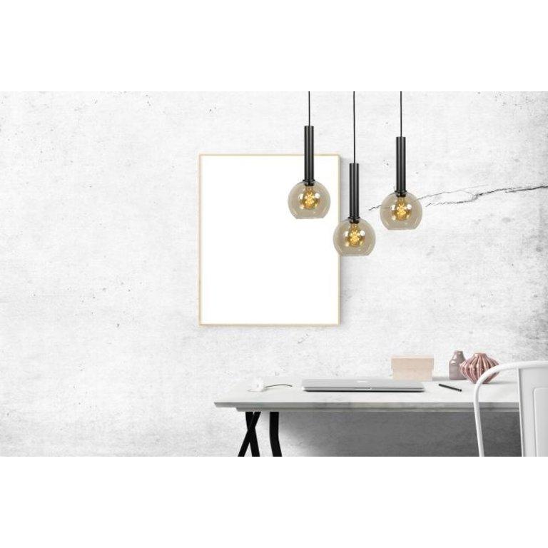 Masterlight Hanglamp Bella 1lichts mat zwart klein