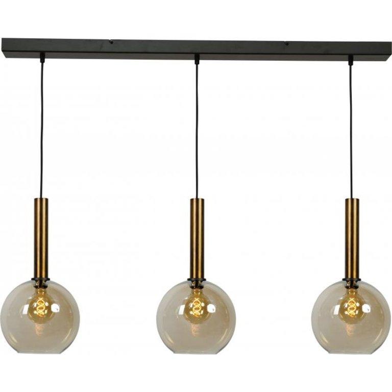 Masterlight Hanglamp Bella 3lichts antiek messing