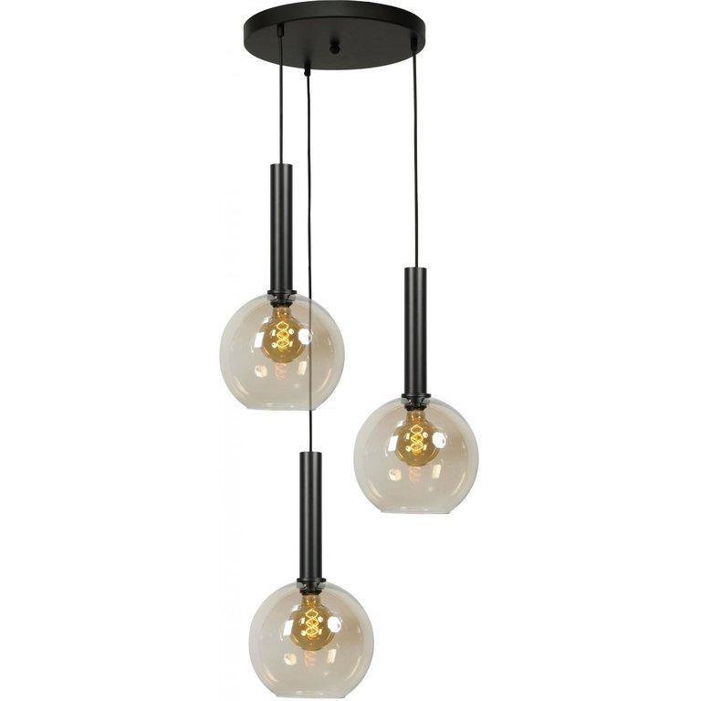 Masterlight Hanglamp Bella 3lichts mat zwart Ø 35 cm