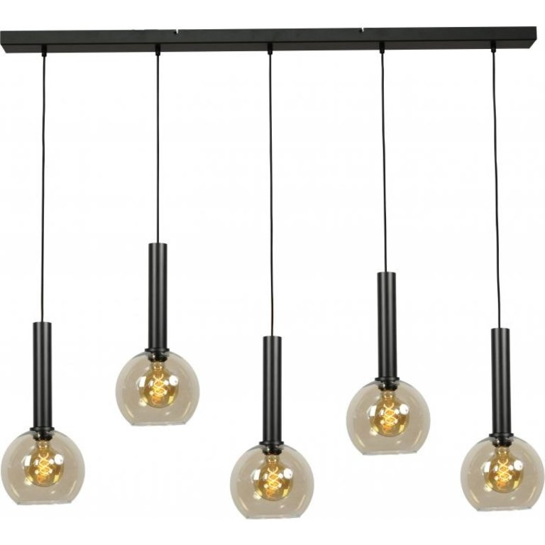 Masterlight Hanglamp Bella 5lichts mat zwart